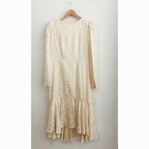 The 80s Silk Drape Dress